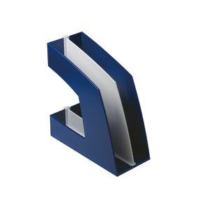 便利 日用品 (まとめ買い)ファイルボックス(仕切り付) A4タテ ブルー 10個