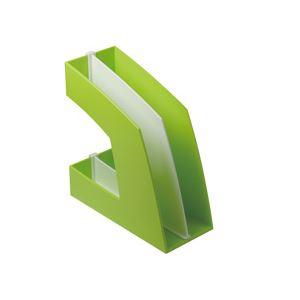 日用品雑貨 便利グッズ (まとめ買い)ファイルボックス(仕切り付) A4タテ グリーン 10個