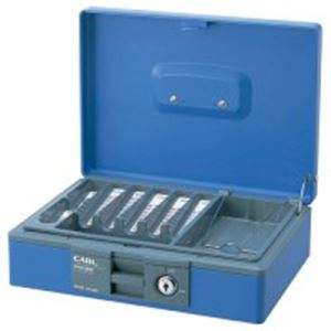 防犯関連グッズ 金庫 関連 便利 日用品 キャッシュボックス CB-8400 ブルー