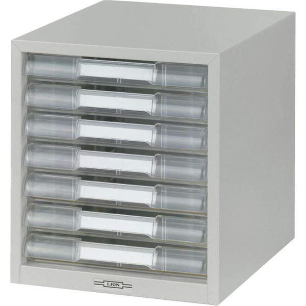 インテリア・寝具・収納 オフィス家具 関連 レターケース LA4-307 W277×D350×H310mm 浅型7段 ライトグレー