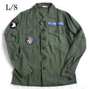 "USタイプ OG-107 ファティーグシャツ カスタム AIR FORCE ""B"" 長袖 13 1/2(レディースフリー)"