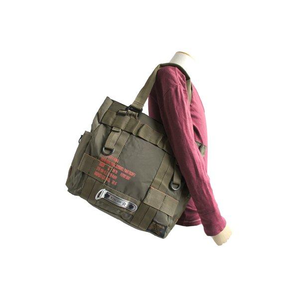 バッグ フライングボディパラシュートミリタリートートバック BH066YN  オリーブ