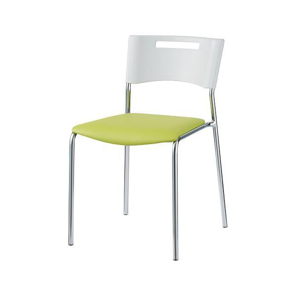 オフィス家具 オフィスチェア 会議用チェア 関連 プラス 会議イス MC-112N 固定脚 グリーン