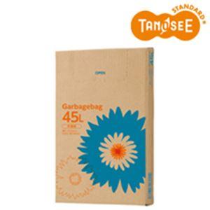日用品・生活雑貨 袋 関連 (まとめ)TANOSEE ゴミ袋 半透明 45L 110枚入×6箱