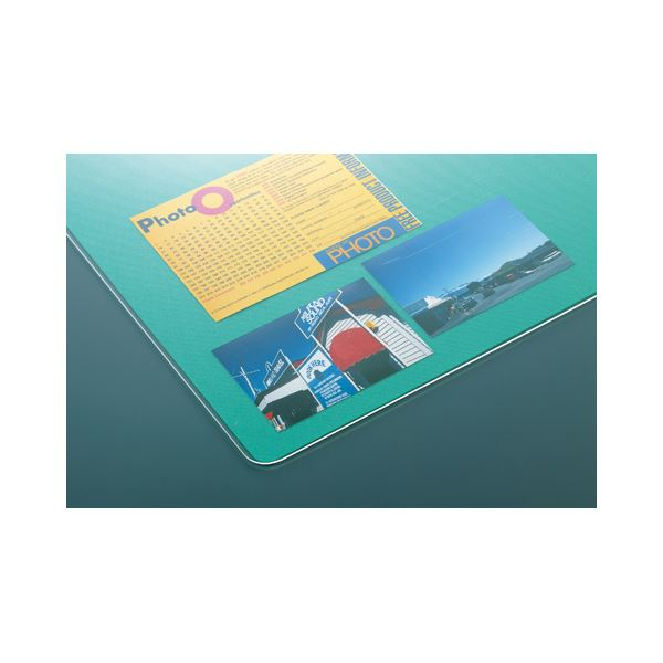 クラウン グラスマット ダブル(グリーン下敷付) CR-GS107-G 1枚