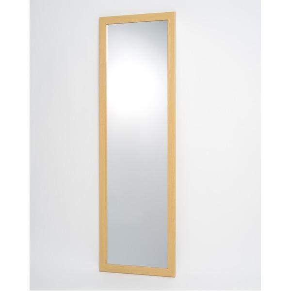 割れない鏡 姿見 3尺 ナチュラル 壁掛け スタンドミラー