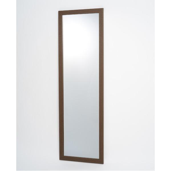 インテリア・家具 割れない鏡 姿見 3尺 ブラウン 壁掛け スタンドミラー