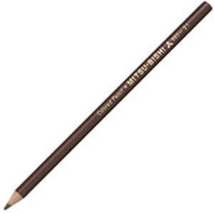 文房具・事務用品 筆記具 関連 (業務用50セット) 三菱鉛筆 色鉛筆 K880.21 茶 12本入 【×50セット】