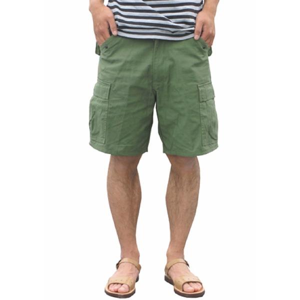 スポーツ・アウトドア アウトドア ウェア レインウェア 関連 USタイプ「M-65」フィールドショート丈パンツ オリーブ メンズ Sサイズ 【レプリカ】