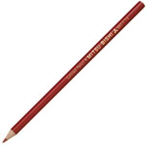 文房具・事務用品 筆記具 関連 (業務用50セット) 三菱鉛筆 色鉛筆 K880.15 赤 12本入 【×50セット】