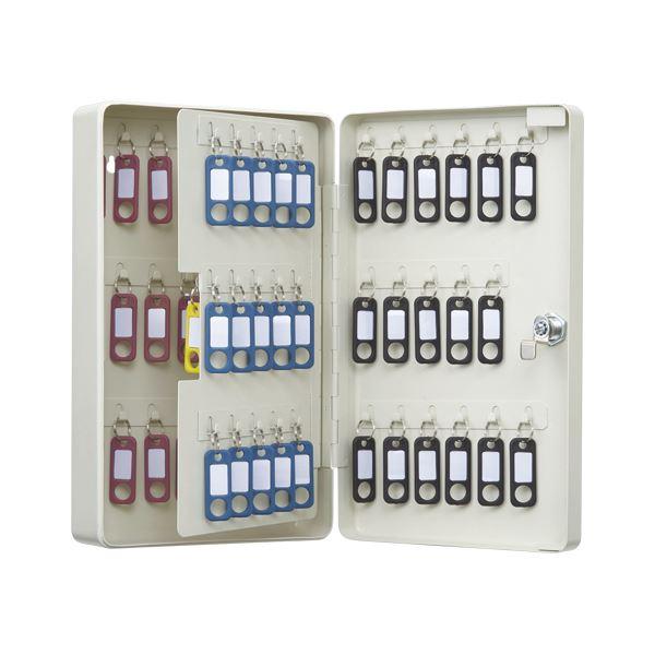 オフィス収納 関連商品 カール事務器 キーボックス コンパクトタイプ 68個収納 アイボリー CKB-C68-I
