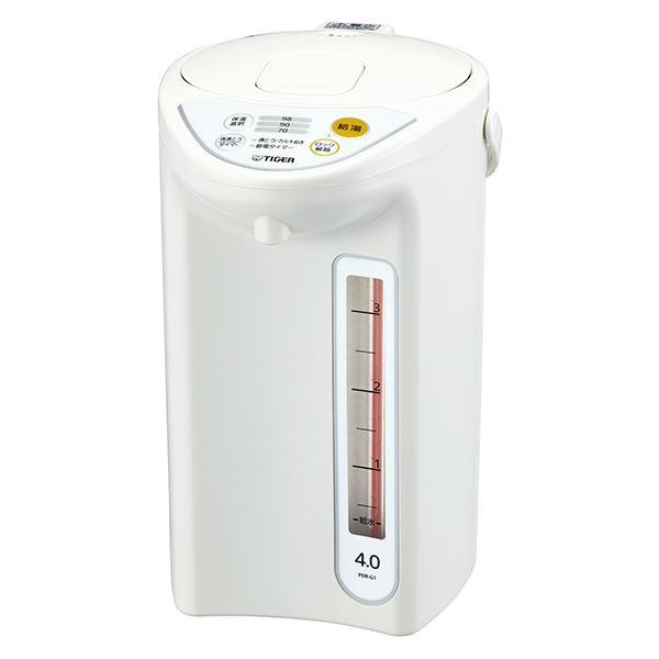 家電 タイガー魔法瓶 マイコン電動ポット 4.0L ホワイト PDR-G401W