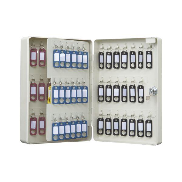 オフィス収納 関連商品 カール事務器 キーボックス コンパクトタイプ 80個収納 アイボリー CKB-C80-I