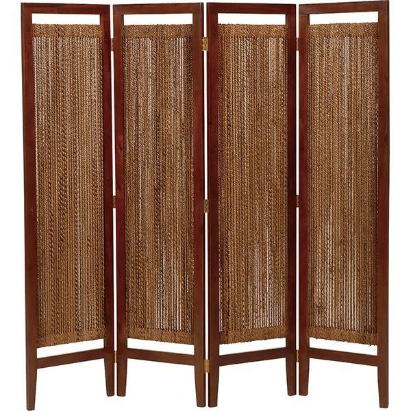 生活 雑貨 通販 パーテーション(スクリーン) グランツシリーズ 4連 木製 高さ150cm アジアン風 ナチュラル【代引不可】