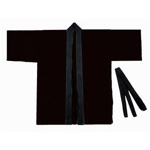 便利 日用雑貨 (まとめ買い)カラー不織布ハッピ 子供用 S 黒 【×30セット】