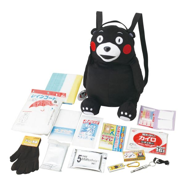 日用品雑貨・文房具・手芸 関連 くまモンの非常持出しリュックセット(B) KMR-B
