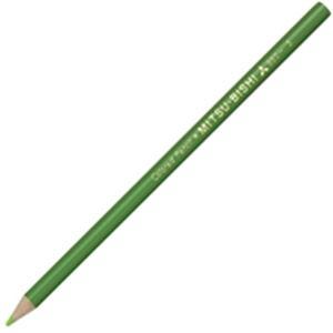 文房具・事務用品 筆記具 関連 (業務用50セット) 三菱鉛筆 色鉛筆 K880.5 黄緑 12本入 【×50セット】