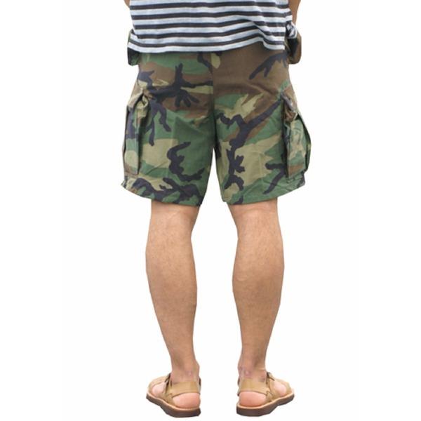 スポーツ・アウトドア アウトドア ウェア レインウェア 関連 USタイプ「M-65」フィールドショート丈パンツ ウッドランド メンズ Sサイズ 【レプリカ】
