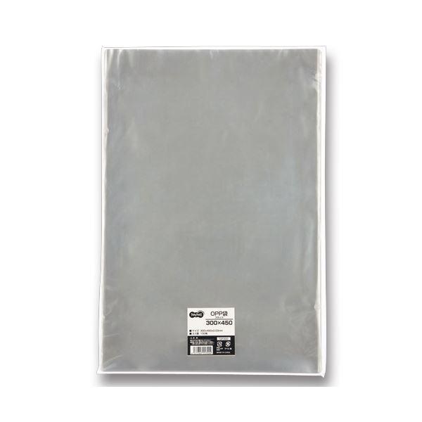 文具・オフィス用品 (まとめ) TANOSEE OPP袋 フラット 300×450mm 1パック(100枚) 【×5セット】