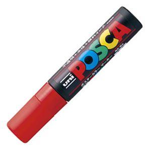 文房具・事務用品 筆記具 関連 (まとめ) 三菱鉛筆 水性マーカー ポスカ 極太角芯 赤 PC17K.15 1本 【×20セット】
