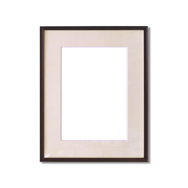 絵画 関連商品 【額縁】マット・壁掛けひも・アクリル付 ■6700水彩額F6号 マット付 (ブラウン)