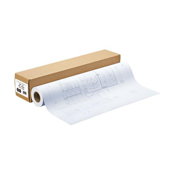 パソコン・周辺機器 (まとめ) TANOSEE インクジェット用コート紙 HG3マット 36インチロール 914mm×45m 1本 【×2セット】