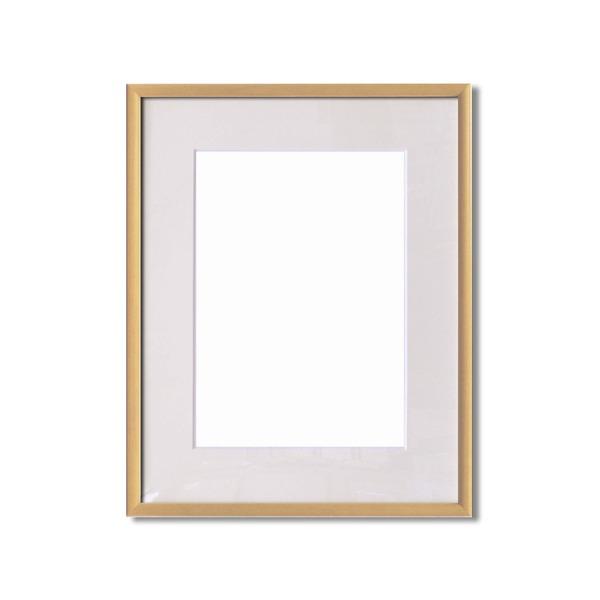 【額縁】マット・壁掛けひも・アクリル付 ■6700水彩額F6号 マット付 (ナチュラル)