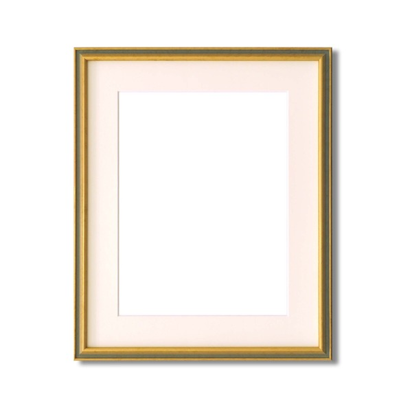 【額縁・絵画額】マット・壁掛けひも・アクリル付 ■9714水彩額F10号 マット付 (ライトグリーン)
