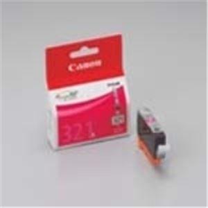 パソコン・周辺機器 (業務用10セット) Canon(キャノン) インクカートリッジ BCI-321M マゼンタ4個 【×10セット】