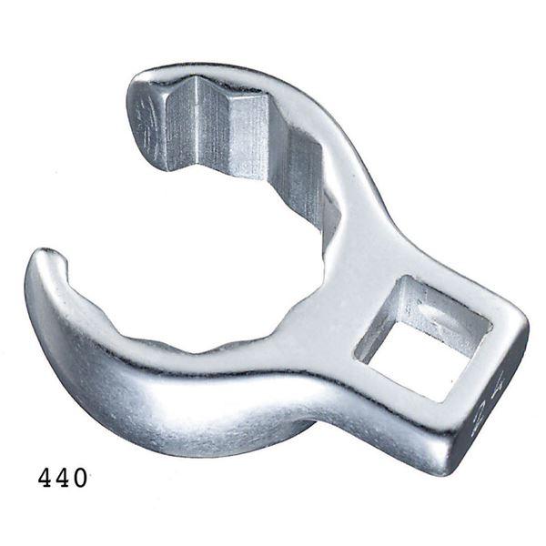 DIY・工具 手動工具 締付工具 レンチ・スパナ 関連 440-19 (3/8SQ)クローリングスパナ (02190019)