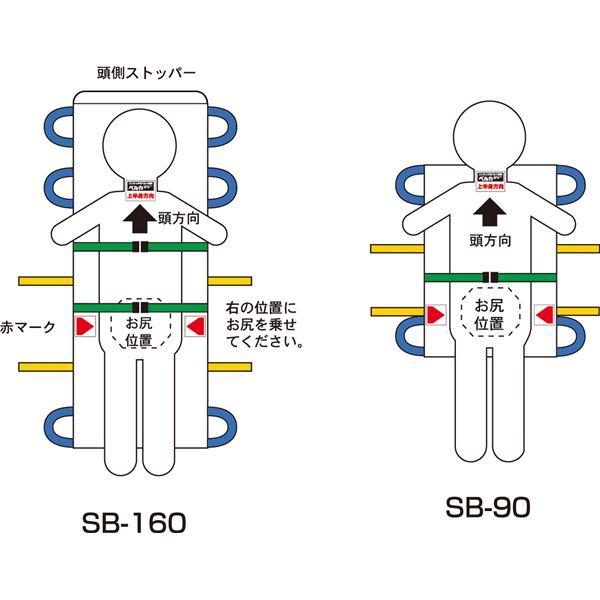 健康器具 松岡 施設用家具・備品 救護担架 (4)SB-90A