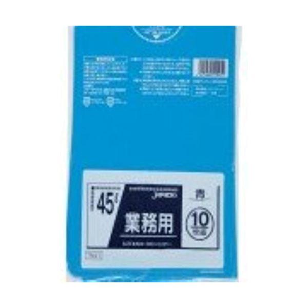業務用45L 10枚入025LLD+メタロセン青 TM41 【(60袋×5ケース)300袋セット】 38-284
