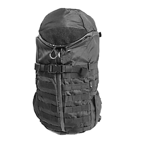 バッグ モール対応防水布仕様中央ジッパー式アサルト3DAYリュックサック ブラック