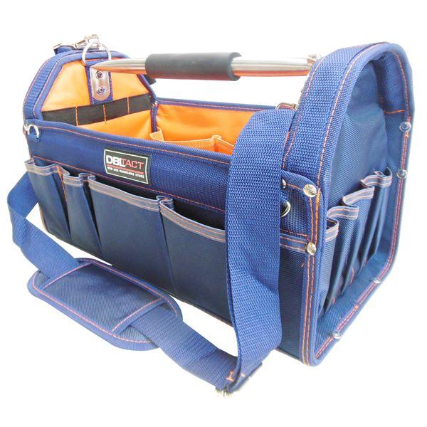 DIY・工具 手動工具 関連 (業務用3個セット) DBLTACT オープンキャリーバッグ 【NV】 DT-SRB-420