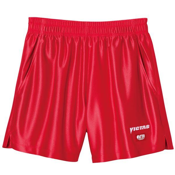 スポーツ・アウトドア 卓球 関連 ヤマト卓球 VICTAS(ヴィクタス) 卓球パンツ V-SP030 ゲームパンツ(男女兼用) 034551 レッド Oサイズ
