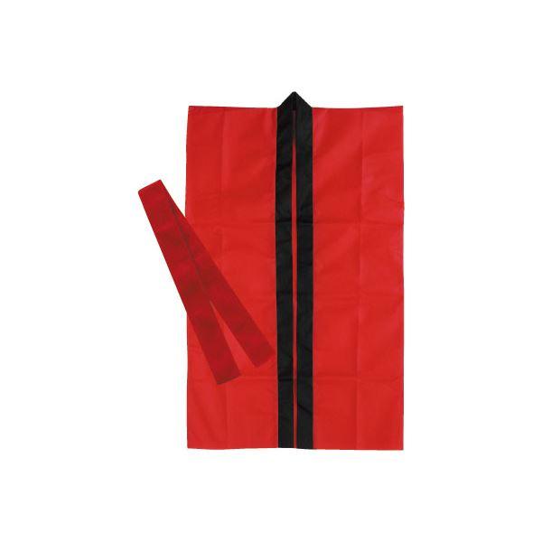 日用品雑貨 便利グッズ (まとめ買い)ロングハッピ不織布 赤 J(ハチマキ付) 【×30セット】