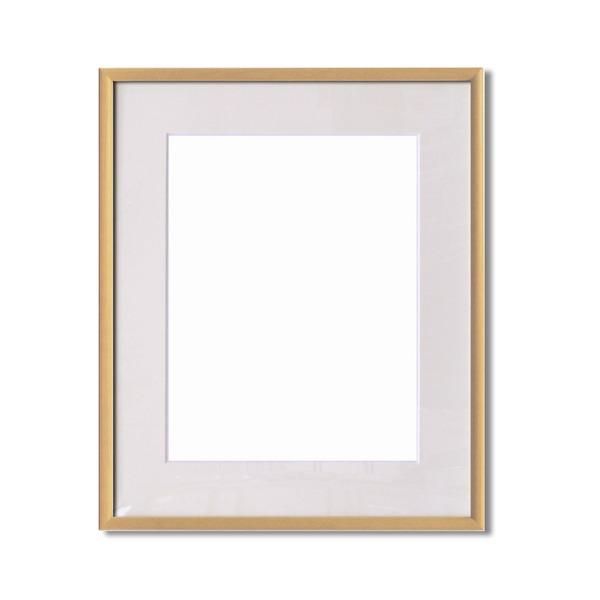 絵画 関連商品 【額縁】マット・壁掛けひも・アクリル付 ■6700水彩額F8号 マット付 (ナチュラル)