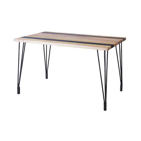 ダイニングテーブル(天然木/アイアン) LEIGHTON(レイトン) ナチュラルミックス NW-113NA