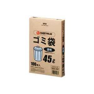 生活用品・インテリア・雑貨 (業務用30セット) ジョインテックス ゴミ袋 LDD 透明 45L 100枚 N044J-45 【×30セット】