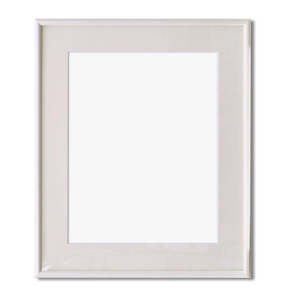 【額縁】マット・壁掛けひも・アクリル付 ■6700水彩額F10号 マット付 (ホワイト)
