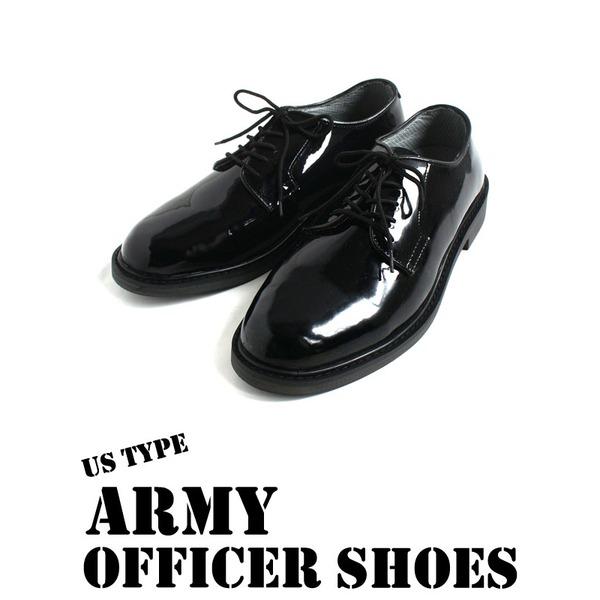 ブーツ・靴 関連商品 USタイプ AR MY オフィサーエナメルシューズ FB048YN 7W 【 レプリカ 】
