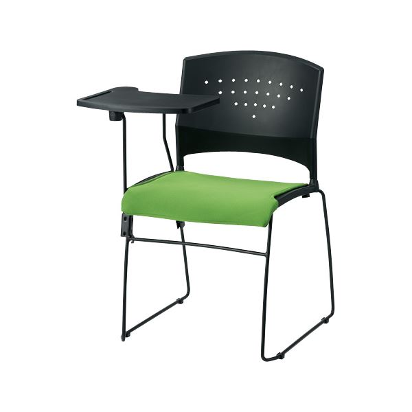 オフィス家具 オフィスチェア 会議用チェア 関連 会議イス GK-CM10R グリーン メモ台付