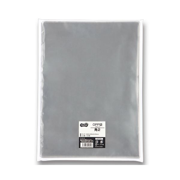 文房具・事務用品 ギフトラッピング用品 透明OPP袋 関連 (まとめ) TANOSEE OPP袋 フラット 角2 240×332m 1セット(500枚:100枚×5パック) 【×2セット】