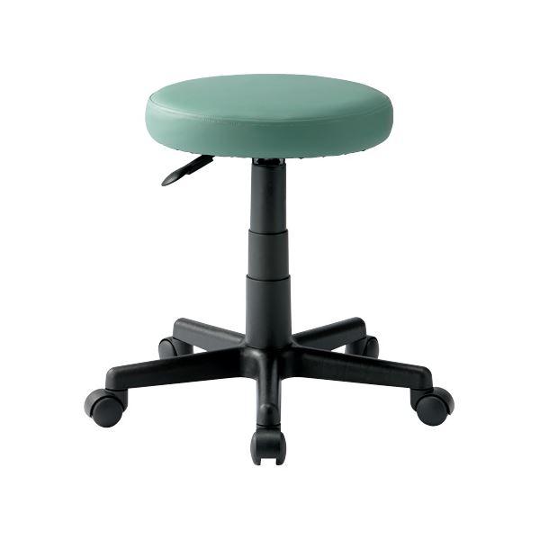 椅子 関連商品 丸イス C903J Mグリーン ウレタンレザー