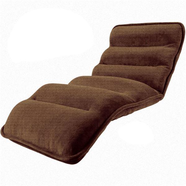 収納簡単低反発もこもこ座椅子 ワイドタイプ ブラウン