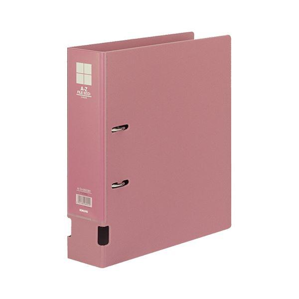 (まとめ) コクヨ A-Zファイル(エコ) A4タテ 2穴 480枚収容 背幅73mm ピンク フ-F290NP 1冊 【×5セット】