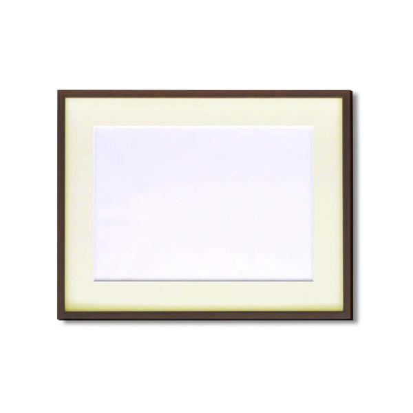 絵画 関連商品 【額縁】マット・壁掛けひも・アクリル付 ■5767水彩額F6号 マット付 (ブラウン)