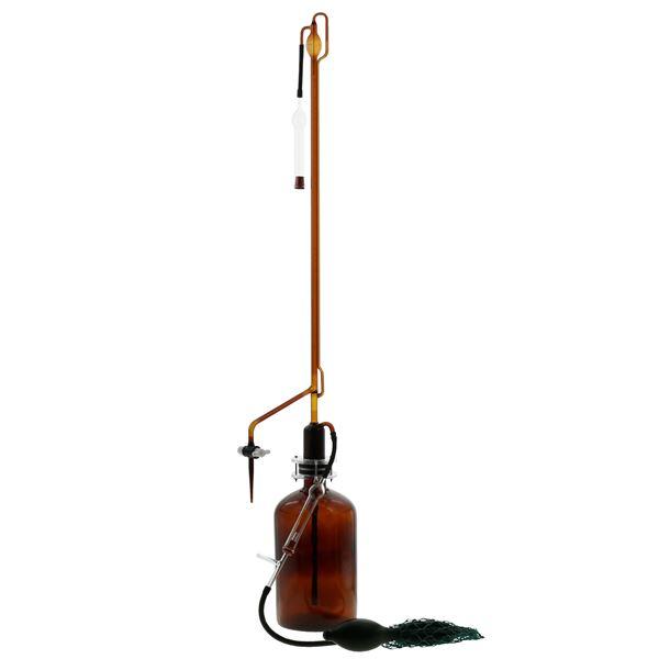 キッズ 教材 自由研究・実験器具 関連 自動ビュレット スーパーグレード 茶褐色 PTFEコック付 50mL