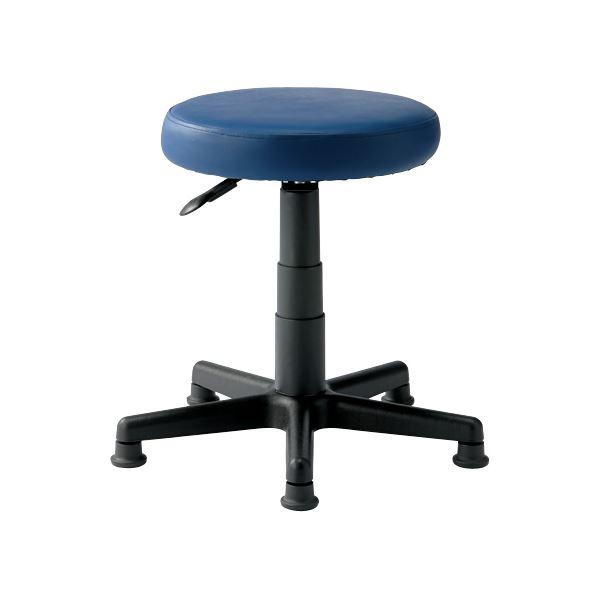 椅子 関連商品 丸イス C913J ネイビー ウレタンレザー