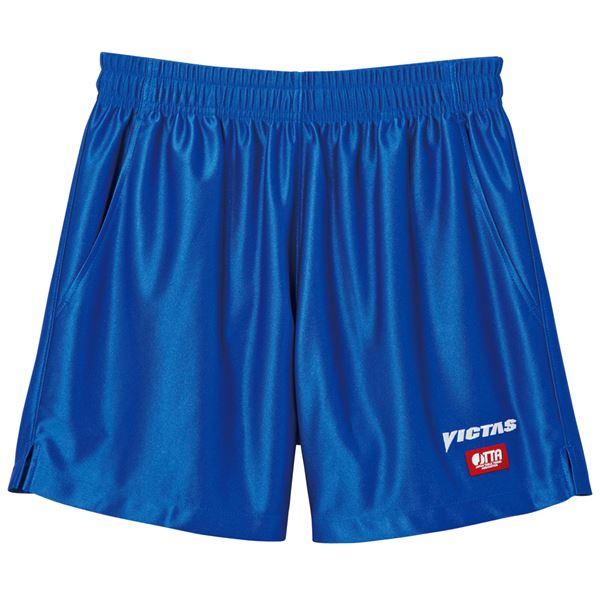 スポーツ・アウトドア 卓球 関連 ヤマト卓球 VICTAS(ヴィクタス) 卓球パンツ V-SP030 ゲームパンツ(男女兼用) 034551 ブルー Lサイズ